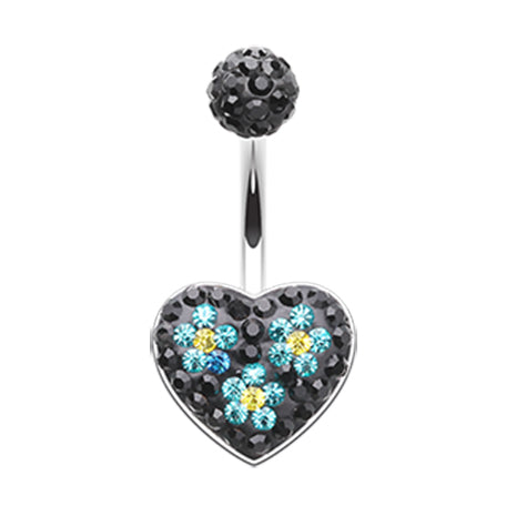 Fixed (non-dangle) Belly Bar. Belly Rings Australia. Motleys™ Midnight Love Parade Belly Ring