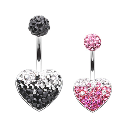 Motleys™ Melting Love Belly Bar - Fixed (non-dangle) Belly Bar. Navel Rings Australia.