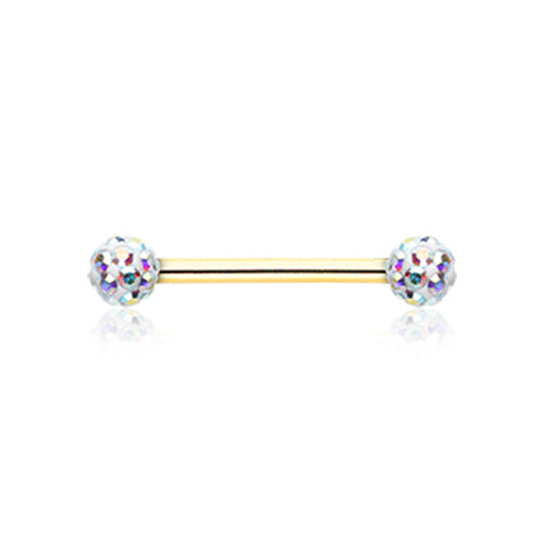 Nipple Ring. Belly Rings Australia. Gold Ice White Motley™ Nipple Ring