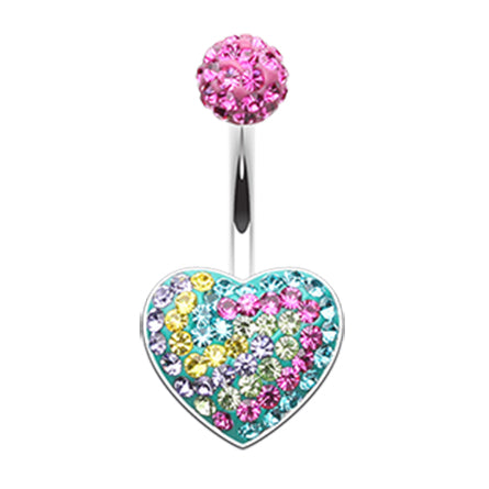 Motley™ Carnival Lovers Navel Ring - Fixed (non-dangle) Belly Bar. Navel Rings Australia.