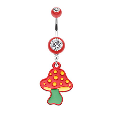 Dangling Belly Ring. Buy Belly Rings. Wild Mushroom Magic Belly Ring