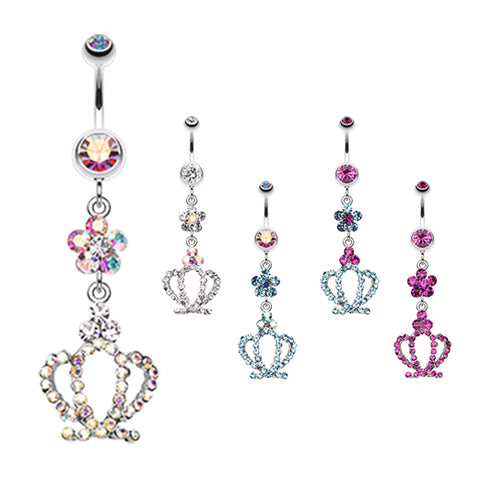 Aurora Flower Prism Belly Rings