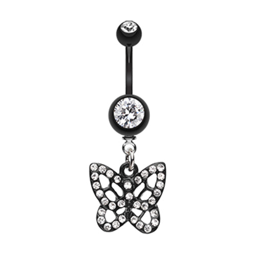 Dangling Belly Ring. Shop Belly Rings. The Sparkilicious Butterfly Belly Ring
