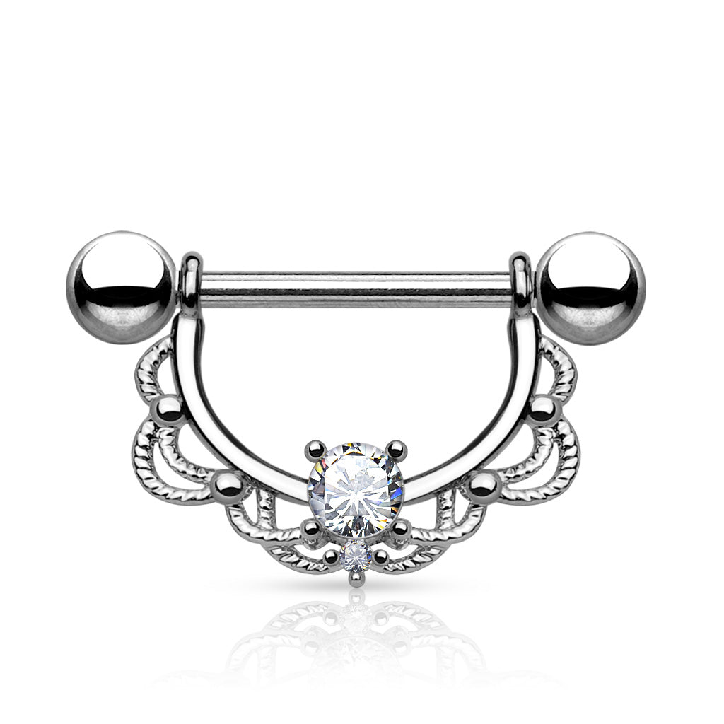 Nipple Ring. Belly Bars Australia. Monika Filigree Nipple Barbell