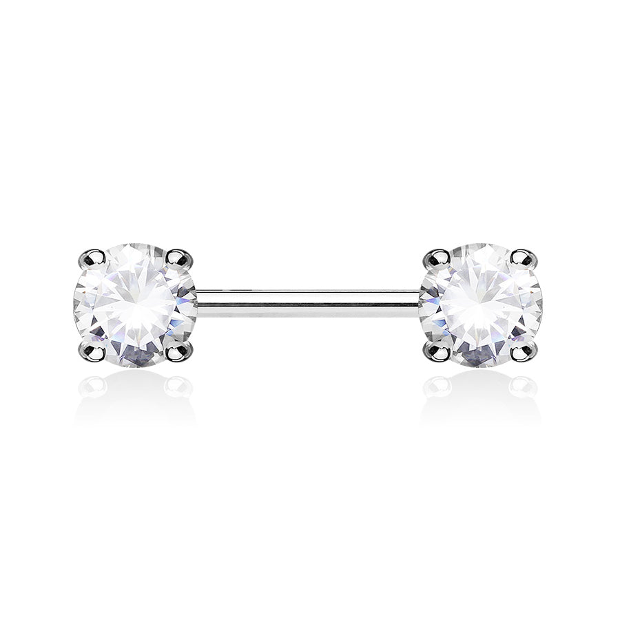 Nipple Ring. Quality Belly Rings. Classic Prong Celeste Nipple Rings