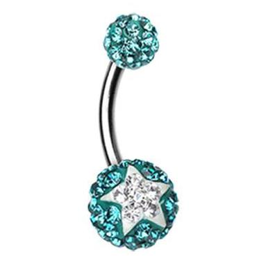 Basic Curved Barbell. Belly Rings Australia. Star Struck Motley™ Navel Ring