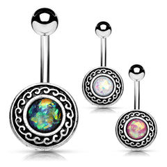 Xanthe Tribal Shield Belly Button Rings
