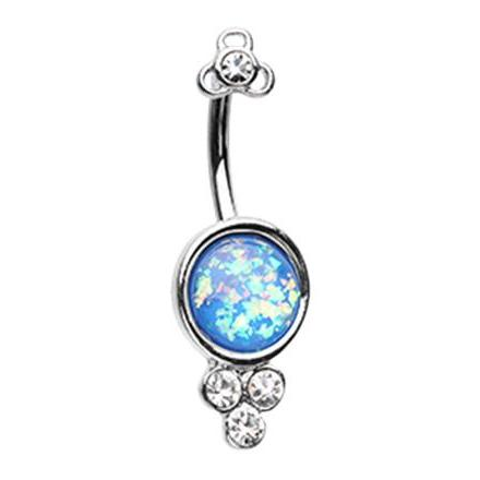 18K White Gold Ajna Top Dangle Belly Button Ring