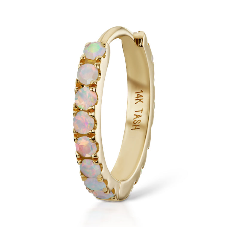 Opal Eternity Earring by Maria Tash in 14K Gold - Earring. Navel Rings Australia.