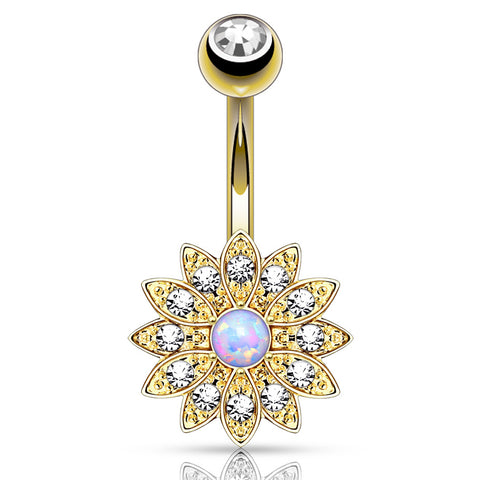 Classic Golden Gem Circular Barbell