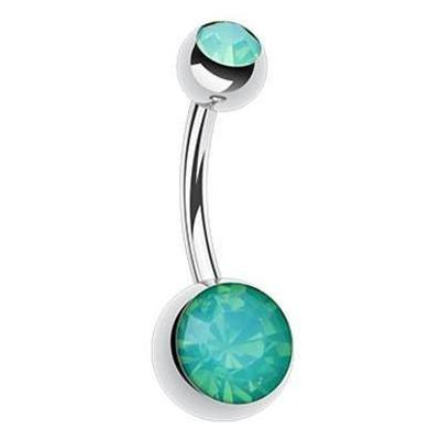 Classique Opaline Gem Belly Button Rings - Basic Curved Barbell. Navel Rings Australia.