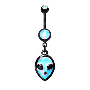 Outta Space Alien Belly Dangle - Dangling Belly Ring. Navel Rings Australia.