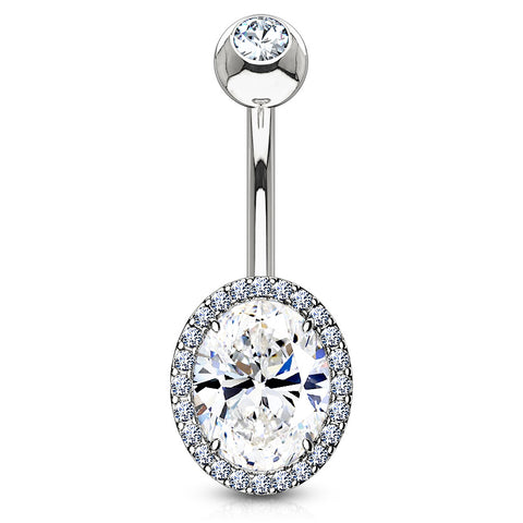 Glamour Wheel Reverse Belly Ring