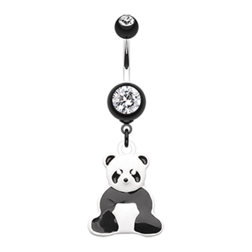 Panda Power Belly Bar - Dangling Belly Ring. Navel Rings Australia.