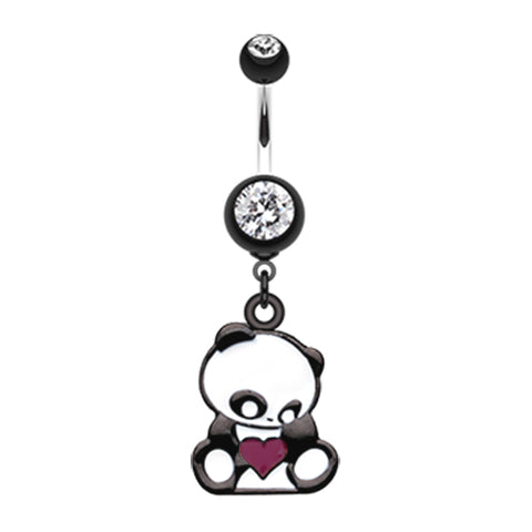 Dangling Belly Ring. Buy Belly Rings. Pondering Panda Belly Dangle