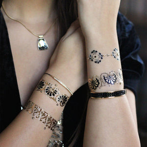 Aurelie by Flash™ Tattoos and Swarovski® - Temporary Tattoo. Navel Rings Australia.