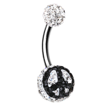Basic Curved Barbell. Quality Belly Bars. Peace Out Motley™ Belly Ring