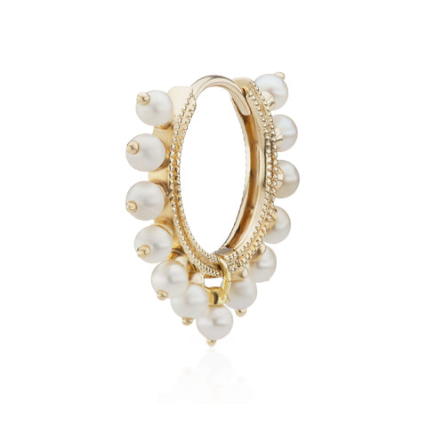 Pearl Coronet Earring by Maria Tash in 14K Gold - Earring. Navel Rings Australia.