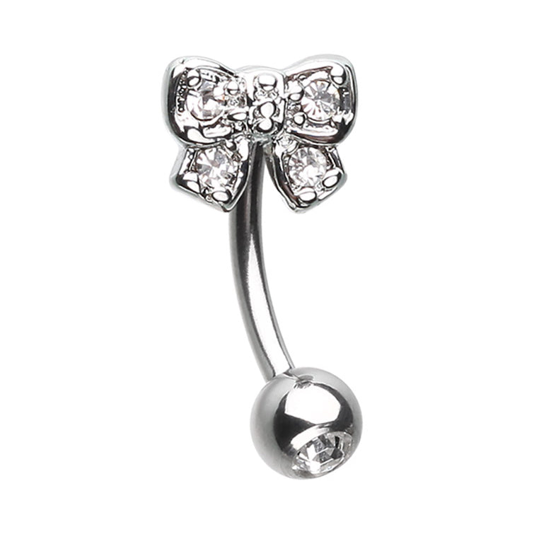 16g Petite Bow Reverse Navel Ring - Reverse Top Down Belly Ring. Navel Rings Australia.