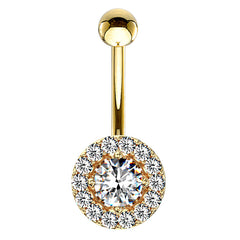 16g  Petite Diana Navel Ring in Gold