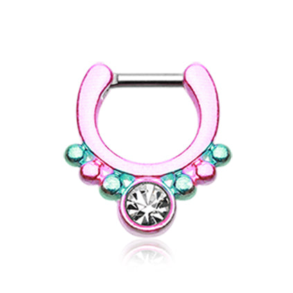 Genovena Fiesta Gem Septum Clicker - Septum. Navel Rings Australia.