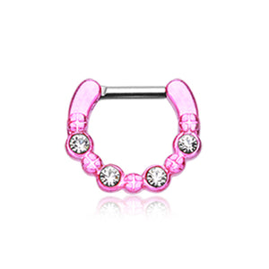 Estela Gem Septum Clicker - Septum. Navel Rings Australia.