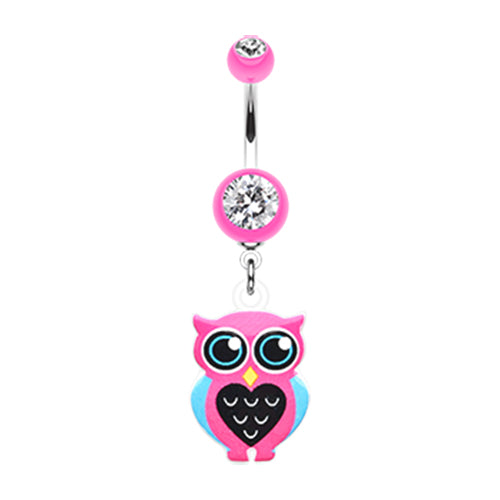 Dangling Belly Ring. Belly Rings Australia. Mrs Know it Owl Belly Ring