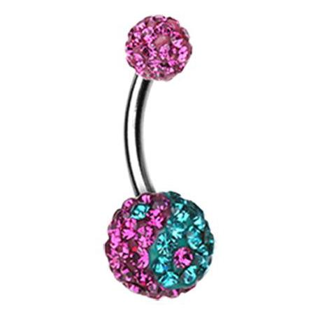 Basic Curved Barbell. Shop Belly Rings. Motley's Yin and Yang Candy Belly Ring