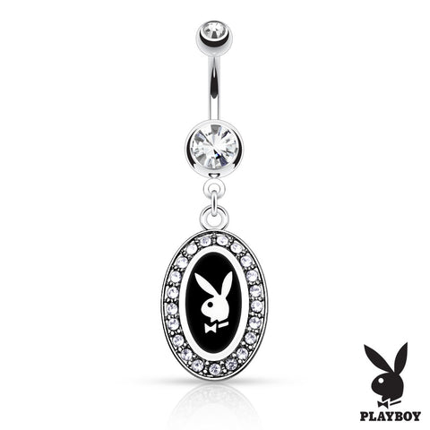 Black Official Framed Playboy Bunny Belly Rings