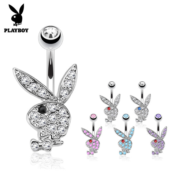 Official ©Playboy Classics Belly Rings - Fixed (non-dangle) Belly Bar. Navel Rings Australia.