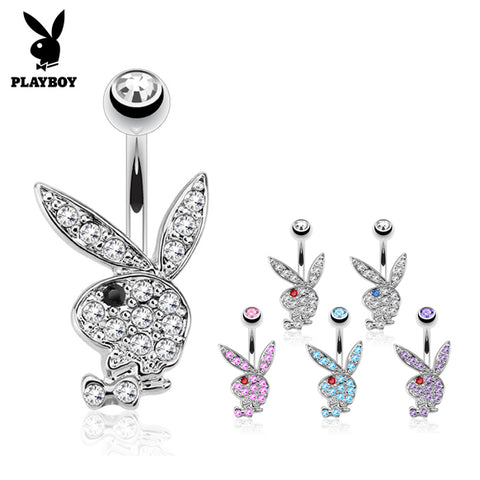 Fixed (non-dangle) Belly Bar. Belly Rings Australia. Official ©Playboy Classics Belly Rings