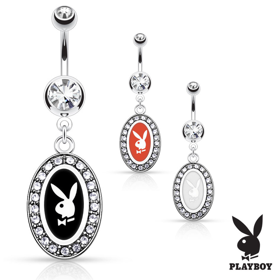 Official Framed Playboy Bunny Belly Rings - Dangling Belly Ring. Navel Rings Australia.