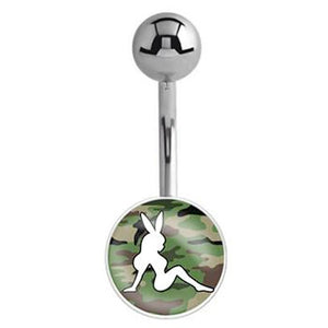 Officially Licensed Playboy Bunny Logo Belly Bars - Basic Curved Barbell. Navel Rings Australia.