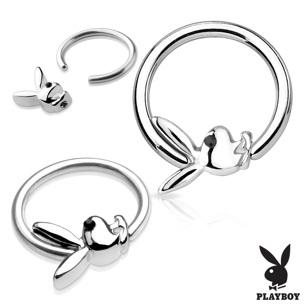 Captive Belly Ring. Navel Rings Australia. Licensed Playboy Captive Bead Navel Ring