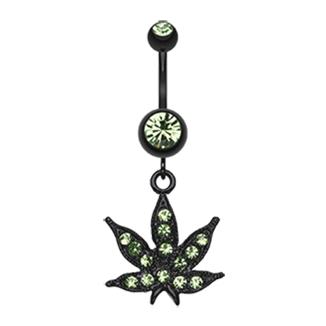 Blackline Mary J Belly Button Ring - Dangling Belly Ring. Navel Rings Australia.