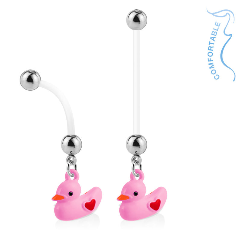 Quack! Clucky Ducky Maternity Belly Ring - Maternity Belly Ring. Navel Rings Australia.