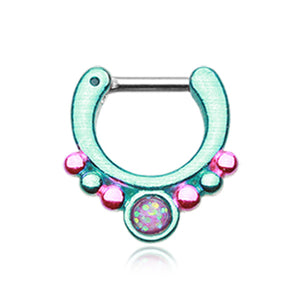Olimpia Opal Supreme Septum Clicker - Septum. Navel Rings Australia.