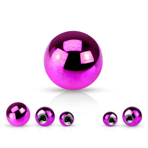 6mm Titanium Replacement Balls - Replacement Ball. Navel Rings Australia.