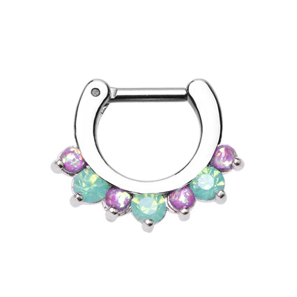 Septum. Shop Belly Rings. Ximena Opal Gem Septum Clicker