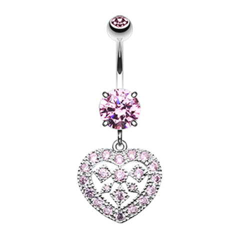Pink Queen of Hearts Belly Bar