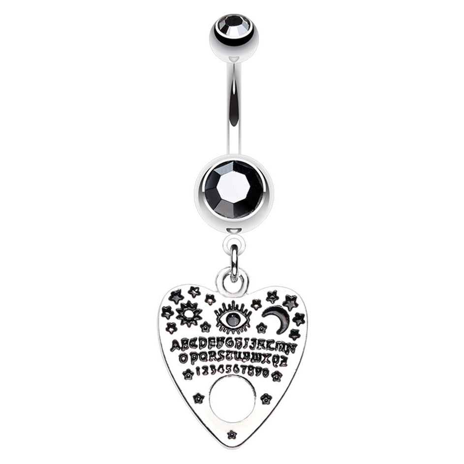 Quija Board Séance Belly Bar - Dangling Belly Ring. Navel Rings Australia.