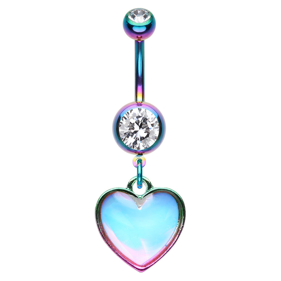 Love Mirage Belly Dangle - Dangling Belly Ring. Navel Rings Australia.