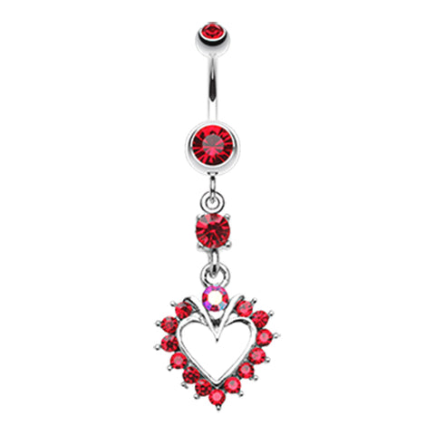 Dangling Belly Ring. Buy Belly Rings. Temptress Heart Navel Ring