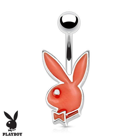 Red 16G Official Playboy Bunny Belly Rings