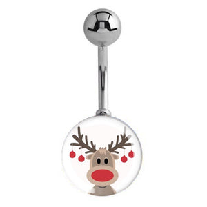 HUGE Rudolph Reindeer Navel Rings - Basic Curved Barbell. Navel Rings Australia.