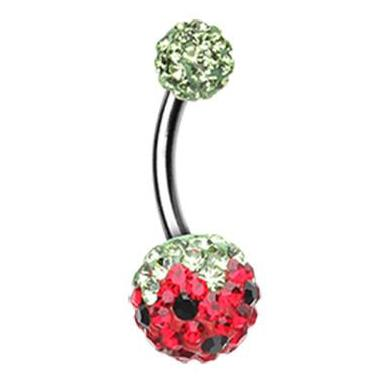 Basic Curved Barbell. Quality Belly Rings. Motleys™ Troppo Melon Belly Ring