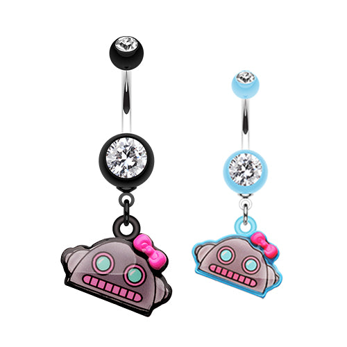 Lilly Bot Dangling Belly Button Ring - Dangling Belly Ring. Navel Rings Australia.