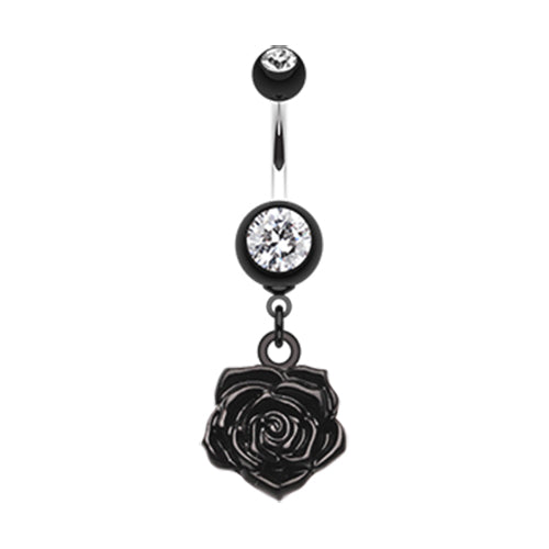 Dangling Belly Ring. Quality Belly Rings. The Immortal Rose Belly Bar