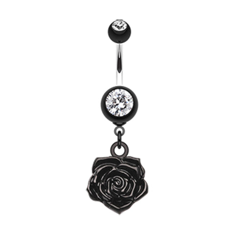 Black The Immortal Rose Belly Bar