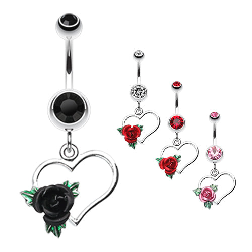 Immortal Love Belly Piercing Ring - Dangling Belly Ring. Navel Rings Australia.